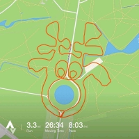 Runner uses GPS to create festive art – in pictures